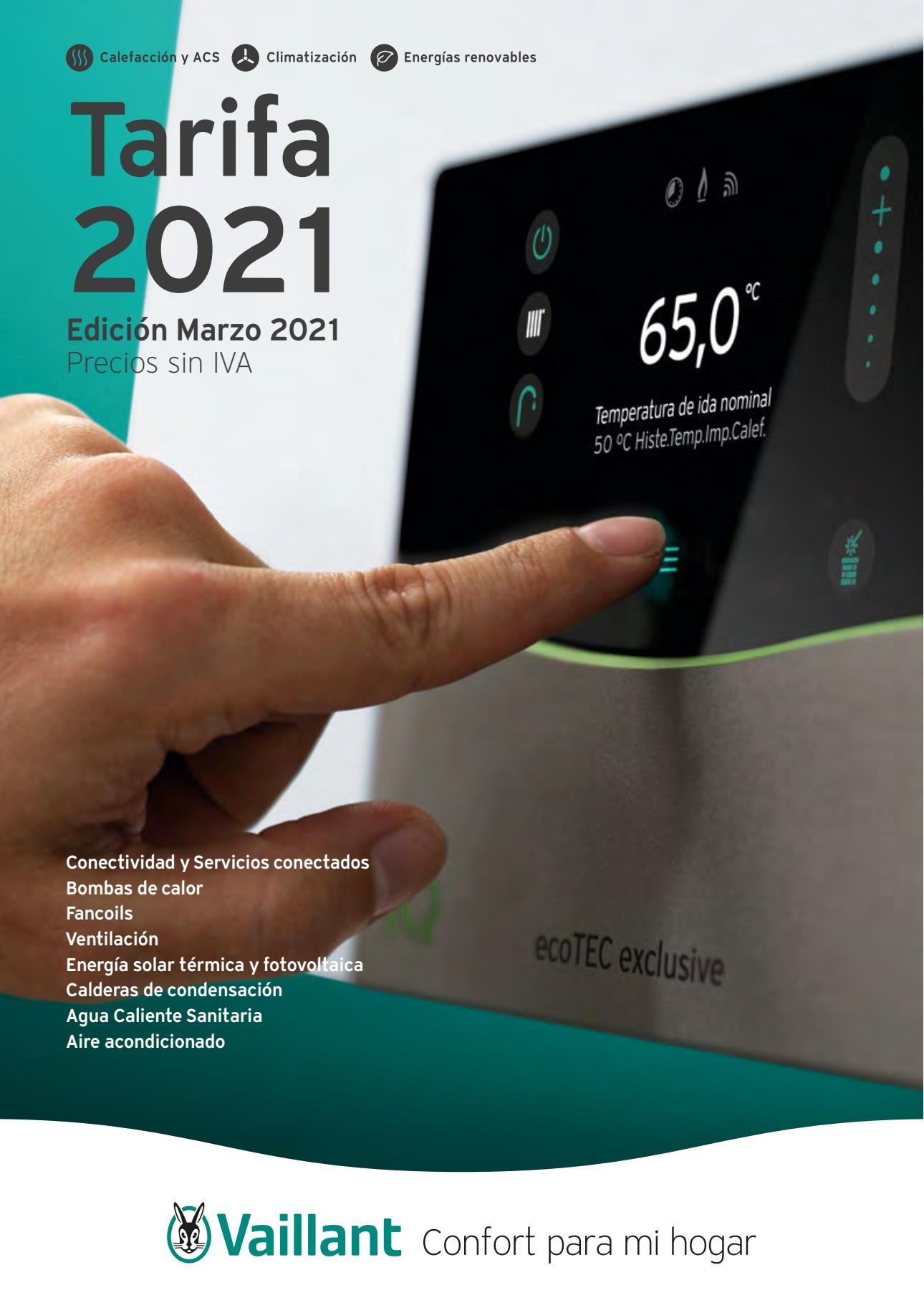Tarifa Vaillant 2021