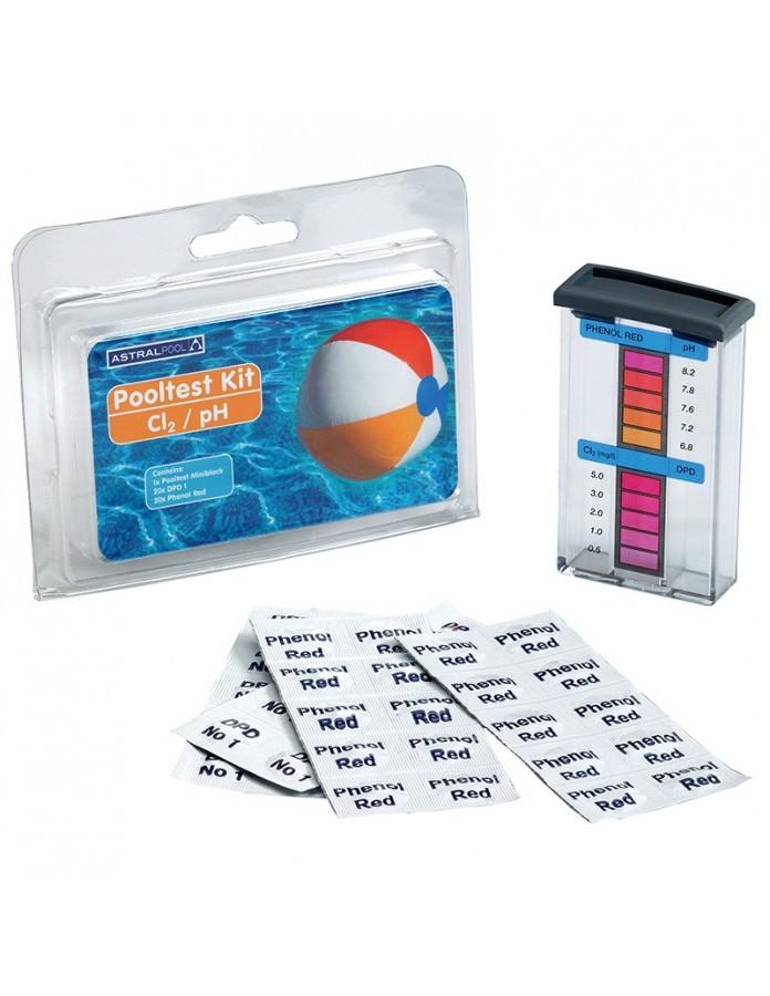 Analizador Pooltester AstralPool cloro libre y pH